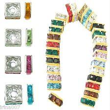 Großhandel Versilber Quadrat Rahmen Metallperlen Beads 12mm x 12mm