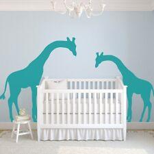 Peeking Giraffe Wall Sticker Family Nursery Kid Room Removable Vinyl Home Decor