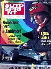 Autosprint 35 1978 Niki Lauda Mario Andretti Ronnie Peterson