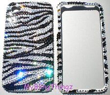 12ss ZEBRA Crystal Rhinestone BLING Case for iPhone 4 G 4S w/ Swarovski Elements