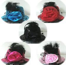 Mini Top Hat Facinator Hot Pink Red Black Blue L/Pink Race Hat