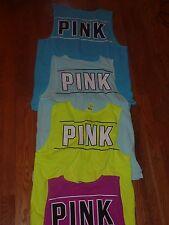 "Victorias Secret Pink Campus ""Pink"" Pocket Tanktop Teeshirt Nwt"