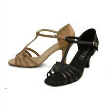 "DiMichi Adult ""KiKi"" Leather Multi-strap Open-toe Ballroom Shoe Sandals"