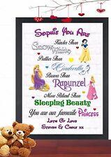 Mothers Day Gift MUMMY MUM Nanny Auntie Disney Princess Personalised Birthday