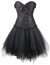 Corsagenkleid Corsage + Mini Jupe Robe Steampunk Noir Gothique linge sachet