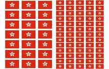 Hong Kong Flag Stickers rectangular 21 or 65 per sheet