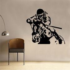 Kauto étoile course cheval cavalier autocollant art mur CEL121L