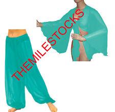TMS TURQUOISE Harem Yoga Pant Top Belly Dance Costume Tribal Pantalons Haut Club