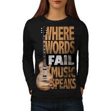Music Speaks Words Women Long Sleeve T-shirt NEW   Wellcoda