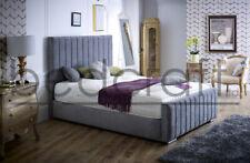 King, Double, All Sizes Handmade Seville Bed, Soft Touch Velvet or Chenille.