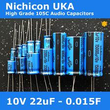 Nichicon UKA KA High Grade Wide Temperature 105C for Audio [10V] Capacitors