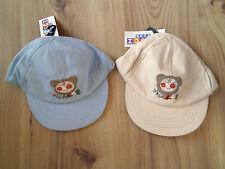 Children Kids Baseball Cap Monkey Blue Beige Summer Hat 2-4 years