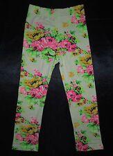 Girls BNWOT Fluro Rose Floral Print Leggings/Pants – Sizes 1-5 Years(Approx)