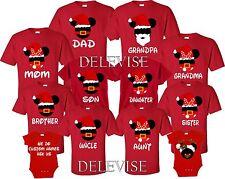 Christmas SHIRTS Mom And Dad F Mickey& Minnie matching funny cute T-Shirts S-4XL