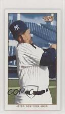 2002 Topps 206 Mini Black Piedmont Back Derek Jeter (White Jersey Batting) Card