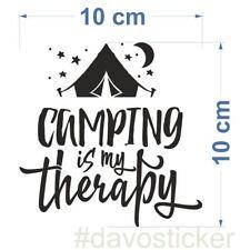Camping is my therapy Sticker Aufkleber Camper Caravan Zelt VW Bus Urlaub