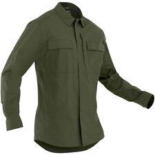 First Tactical Tactix Hombre Manga Larga Bdu Camisa Caza Ripstop Superior Verde