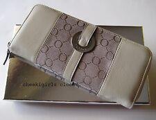 NEW OROTON Essential Multi Pocket Zip (ivory) $225 + GIFT BOX