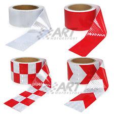 Rollo de cinta reflectante de alta visibilidad 10 metros x 5cm blanco o rojo