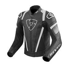 Rev'it Spitfire Jacket Black White Leather Motorcycle Jacket NEW