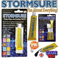 Stormsure BLACK FLEXIBLE REPAIR ADHESIVE GLUE FIX RIPS AND HOLES FAST UK