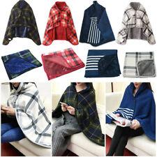 Lady Multifunction Doublelayer Tartan Plaid Blanket Scarf Wrap Shawl Winter Warm