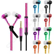 Lot Zipper In-Ear Stereo Earbuds Headphone Earphone Headset W/Mic For Universal