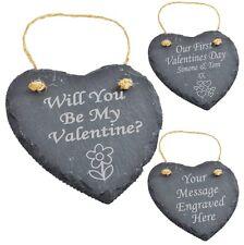 Personnalisé gravé ardoise Valentine's cadeaux Valentine cadeau Valentines Cadeau