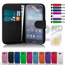 PU Clapet étui cuir style portefeuille pour samsung galaxy s3 i9300 & S3 mini