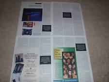 Rotel RHB-10 Amp,RHA-10 Pre Review,4 pgs, 1995, Specs
