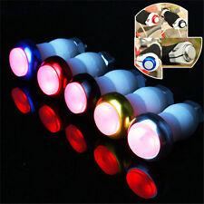 1 Pair Bike Bicycle Handlebar Grips Caps LED Handle Bar End Plugs Light Lamp