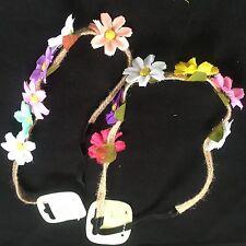 Floral hair bandeaux headband fabric elastic hairband flower festival band