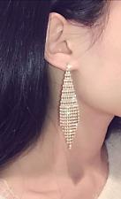 BLING CHANDELIER RHINESTONE EARRINGS SILVER GOLD DANGLE CRYSTAL PARTY STUD EA158