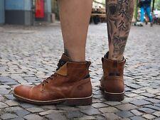 Bullboxer Schuh 09 565 hell-braun Herrenschuhe Boots Echtleder Winterschuh NEU