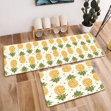 Watercolor Hand Drawn Pineapple Area Rugs Bedroom Carpet Living Room Floor Mat