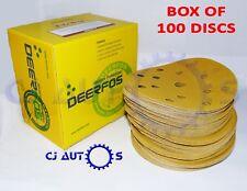 GOLD SANDING PAPER DISCS 6 Inch 150mm DA SANDER ABRASIVE 15 HOLE HOOK LOOP GRIP