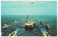 Chrome Postcard Task Group Alfa Display of  Navy Might