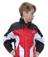 Wulfsport Cub 2 Piece Waterproof Set Trouser/Jacket MX Motocross Kids Suit Red T