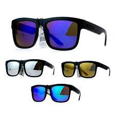 Kush Mens Mirror Lens Gangster Oversize Horn Rim Cholo Sunglasses