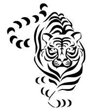 Tigre Stikers-Adesivo Prespaziato-Silhouette decorazioni stampe auto moto casa