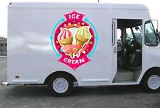 ICE CREAM  TRUCK Stickers  Ice Cream Vinyl Decal Any Business Logo Kit DD186