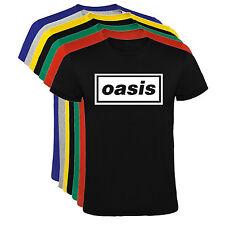 Camiseta Oasis rock bandas musica Hombre varias tallas y colores a087