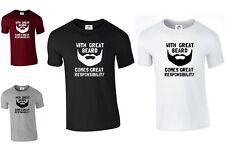 Con un grande barba è di grande responsabilità di rispettare la T SHIRT (grande, maglietta)