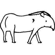 'Tapir' Rubber Stamp (RS003194)