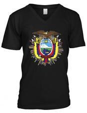Ecuador Shield Quito Galapagos Condor Republica Equatoriano Mens V-neck T-shirt
