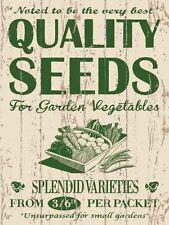 Graines de qualité jardin jardinier à effet de serre plantes légumes métal signe plaque 745