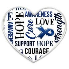 PinMart's Blue Heart w/ Words Child Abuse Awareness Hope Enamel Lapel Pin