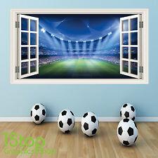fútbol adhesivo pared a todo color - Niña Niño Dormitorio Estadio Ventana W45