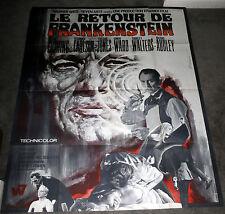FRANKENSTEIN MUST BE DESTROYED original large HAMMER movie poster PETER CUSHING