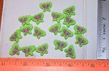 LOT of 18 Fun Cute BUTTERFLY Foam Beads